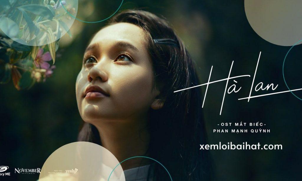 Lời bài hát hà lan do Phan Mạnh Quỳnh thể hiện