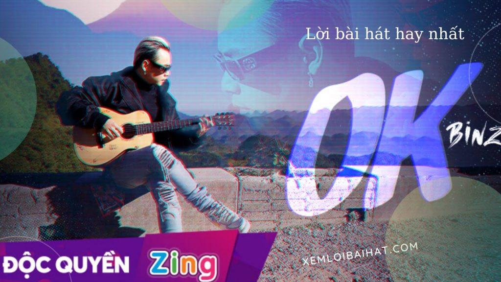 Lời bài hát ok của Binz