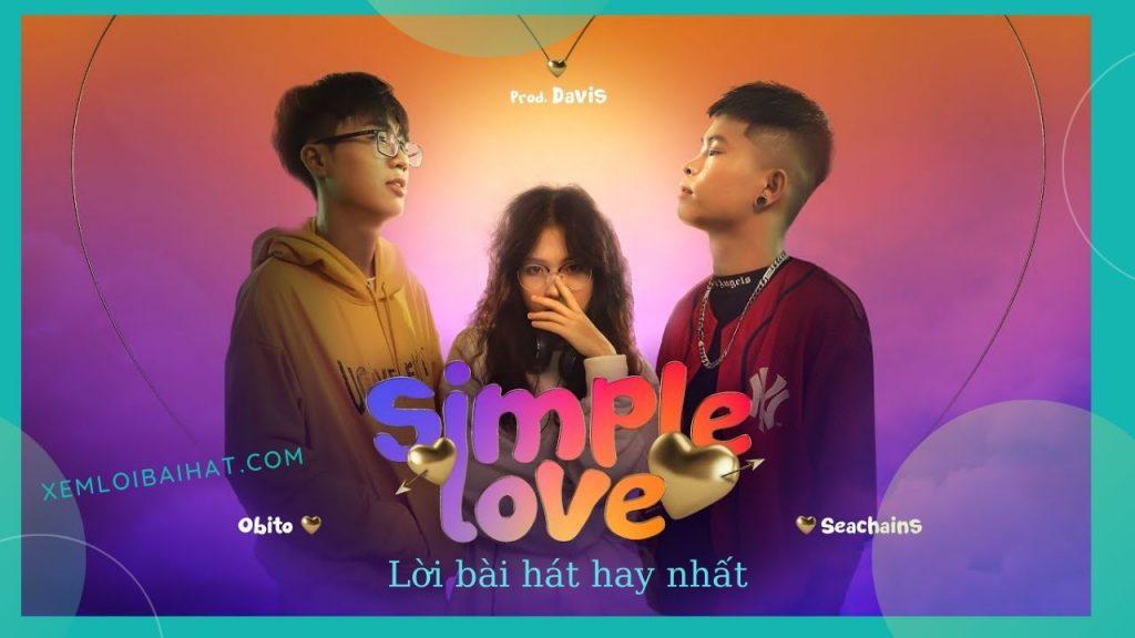 lời bài hát simple love