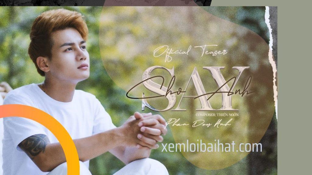 Lời bài hát cho anh say của Phan Duy Anh