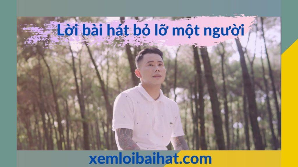 Lời bài hát bỏ lỡ một người của Lê Bảo Bình